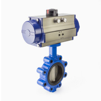 Pneumatic Lug Style Butterfly Valves