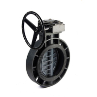 Gear-Operated UPVC plastic Butterfly Valves