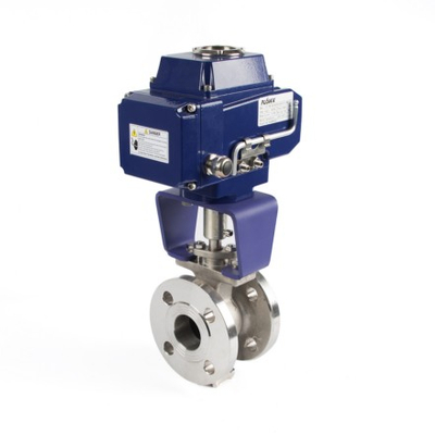 Electric Actuator V-Type Flanged Ball Valves - Buy Electric Actuator