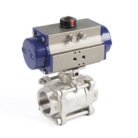 Pneumatic 3-Piece Thread Ball Valves