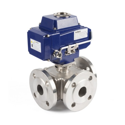 Electric Actuator 3-Way Flange Ball Valves