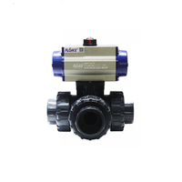 3 Way Gas Ball Valve Full Port Fire Safe PVC Material