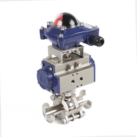 Pneumatic Operated Ball Valve 3 Inch Tri Clamp