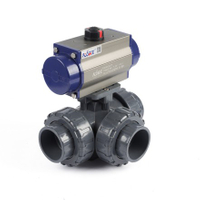 Pneumatic 3-Way True Union Ball Valves