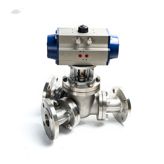 Y Type 3 Way Flanged Electric Ball Valve