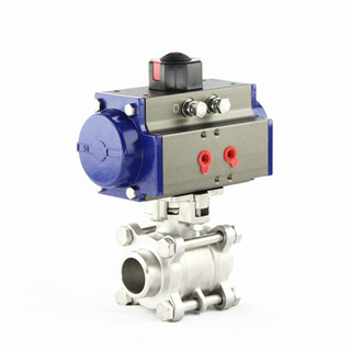 Pneumatic Operated Butt Welding Stainless Steel Ball Valve