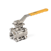 Hand Lever 3-Piece Thread Ball Valves