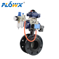 Flange Type Butterfly Valve with Pneumatic Actuator Double Acting