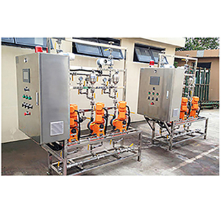 Automatic sodium hypochlorite chemical solution dosing system