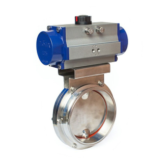 butterfly valve with pneumatic actuator working