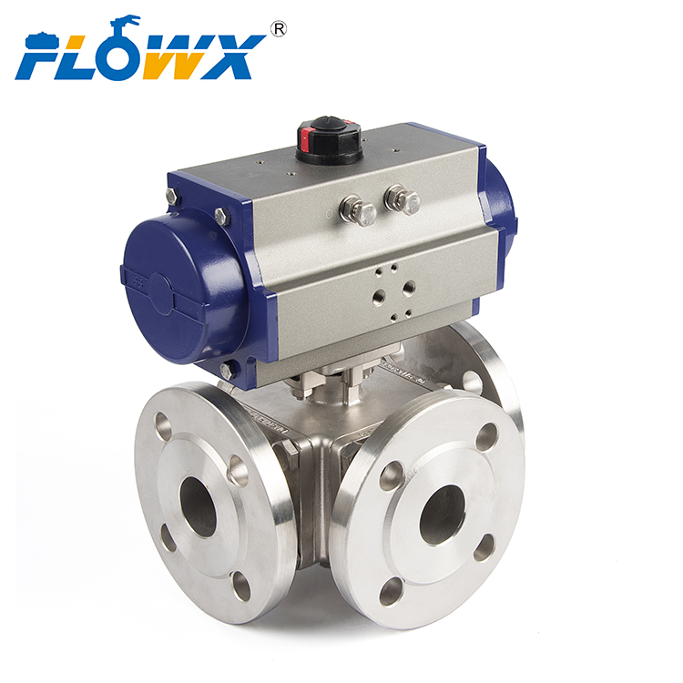 Electronic Actuator Ball Valve Flanged