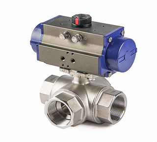 Pneumatic Three Way Ball Valve Actuator